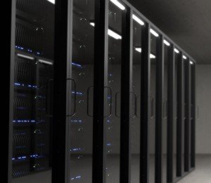 Photo of a row of servers